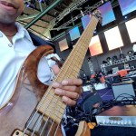 David Dyson at Seabreeze Jazz Festival 2017 with the Wayne Jones AUDIO bass guitar rig