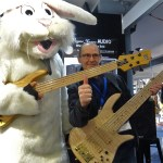 Funky Bunny with a Fodera Monach 5 Deluxe bass guitar and Wayne with his Custom Fodera Monarch Elite 6.