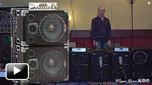 Wayne Jones explains the Wayne Jones AUDIO High Powered, High End Bass Cabinets, Hi Fi Studio Monitors & Stereo Valve Bass Pre-Amp features