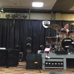 Wayne Jones AUDIO bass guitar speaker rig on main stage at Nashville Music Gear Expo 2015