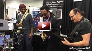 NAMM 2016 André Berry & Nate Phillips & Wayne Jones Jam at Wayne Jones Audio Booth