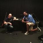 Wayne Jones with Wayne Jones AUDIO endorsee, bass player Nate Phillips @ SIR Studios Las Vegas