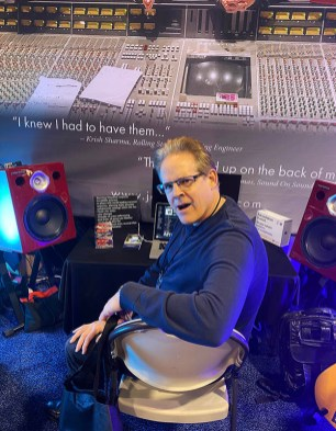 Nick Thorpe, president of Westwind Music Group, dropped by our NAMM booth to be captivated by the Jones-Scanlon Studio Monitors