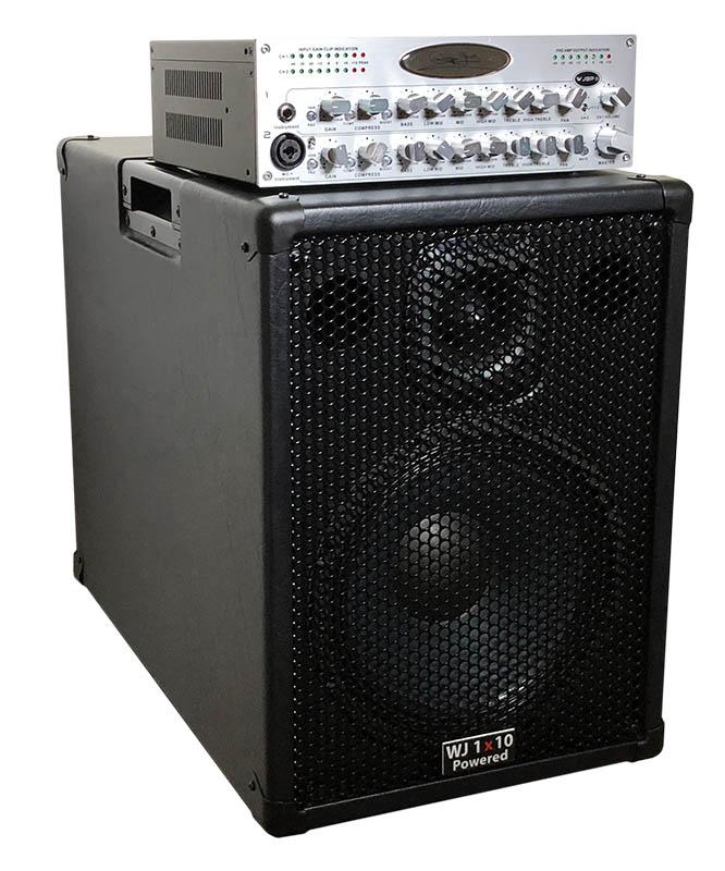 Wayne Jones Audio   5000 Watt 1x10 Powered Bass Guitar Speaker Cabinet With  WJBPII Twin Channel