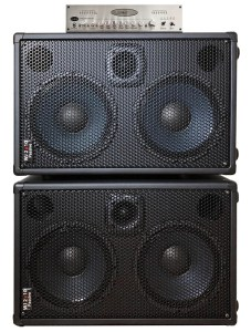 WJBA2 1000 Watt Bass Guitar Amplifier with 6 band eq Bass Pre-Amp, 1000 Watts into 4 or 8 Ohms with the WJ 700 Watt Passive 2x10 Bass Cabinet - 8 Ohms, Compact, Hi End, Crystal Clear, Full Range 2×10 Bass Cabinet (40 Hz – 20 KHz)