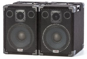 The WJ1000 Watt powered 1x10 stereo system used as a PA for vocals & backing tracks. Bass Guitar speakers, Vocal PA. Band speakers. Keyboard speakers.
