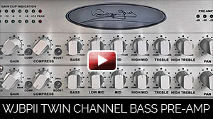 André Berry presents the WJBPII Twin Channel Bass Guitar Pre-Amp