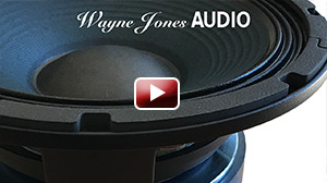 "The custom 10"" drivers in the Wayne Jones AUDIO powered bass cabinets are hand made with passion & pride, exclusively for Wayne Jones AUDIO"