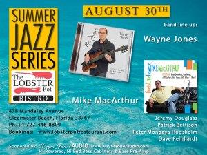 Wayne Jones bass player & Mike MacArthur on sax @ The Lobster Pot