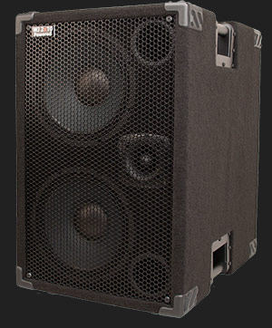 1000 Watt Compact, Portable  Hi End, High Powered, Crystal Clear, Full Range 2×10 Bass Cabinet (40 Hz – 20 KHz & does the job of a 4×10) that only requires a pre-amp, your bass & yourself.  Best bass guitar speakers.