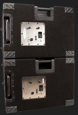 Bass guitar amps & speakers. Simply the best powered bass speaker cabinets. Wayne Jones AUDIO.