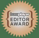 Bass Player Magazine editor award for Wayne Jones Audio bass guitar rigs - Jan 2018 issue