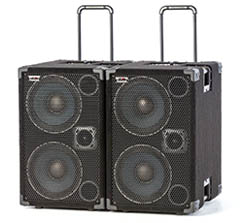 Wayne Jones Audio - 1000 Watt 2x10 Powered Bass Cabinet - bass guitar speakers