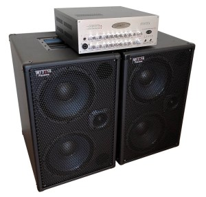 WJ 700 Watt Passive 2x10 Bass Cabinets - 8 Ohms, Compact, Hi End, Crystal Clear, Full Range 2×10 Bass Cabinet (40 Hz – 20 KHz) with WJBA 2000 Watt Bass Guitar Amplifier