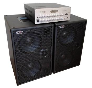 WJ 700 Watt Passive 2x10 Bass Cabinets - 8 Ohms, Compact, Hi End, Crystal Clear, Full Range 2×10 Bass Cabinet (40 Hz – 20 KHz) with WJBA 2000 Watt Bass Guitar Amplifier