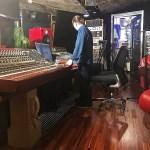 Wayne Jones demonstrating the Jones-Scanlon Studio Monitors