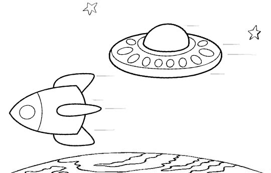 Saucer Coloring Page Pages Sketch Coloring Page