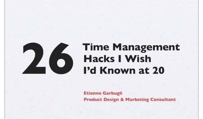 Time Management Hacks
