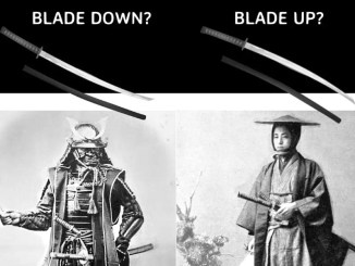 Proper way to wear a katana