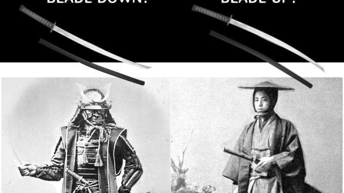 Proper way to wear a katana