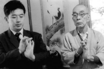 Masaaki Hatsumi with Takamatsu Sensei