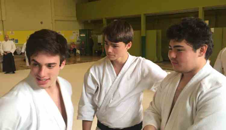 Jack Sharp with Aikido partners