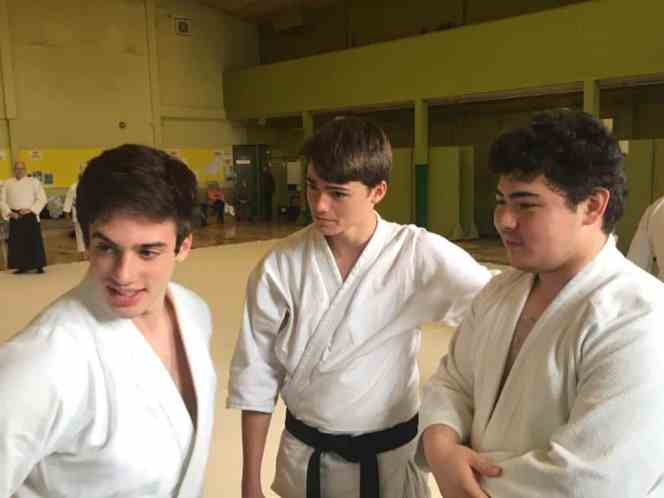 Jack Sharp with Aikido partners
