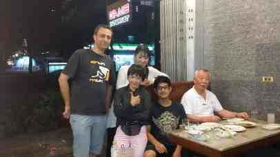 Renbukan Aikido Bangkok senseis, senpais and Logen having dinner 2014 (with Fukakusa Shihan)