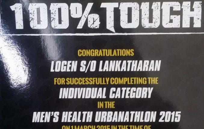 Logen Men's Health Urbanathlon Certificate