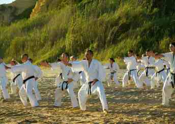 Performing kata in the morning