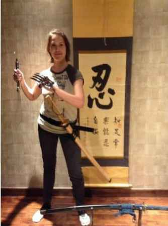 Shuko and sword