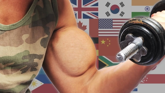 26 Army Fitness Tests from Different Countries in the World