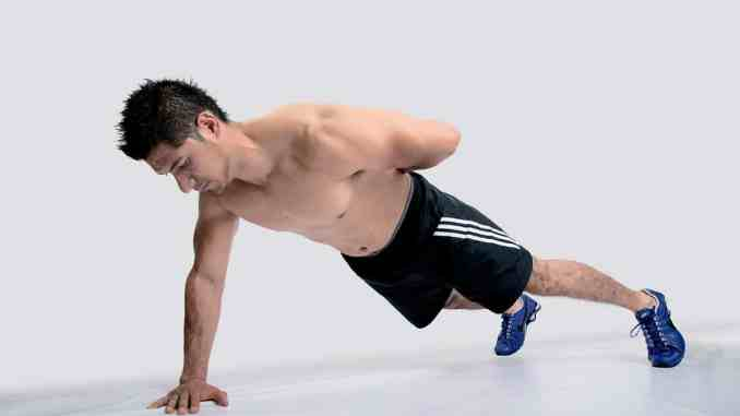 Calisthenics training - one-arm push up