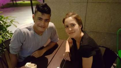 Logen and Valerie (meet-up in Singapore)