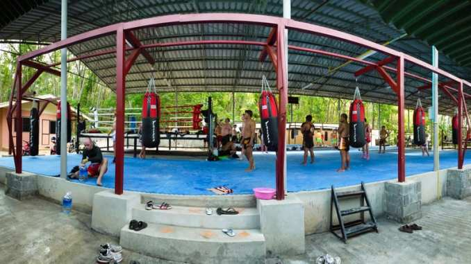 Training at Tiger Muay Thai via Peter Waterman