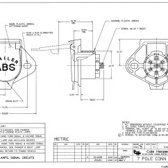 13 Pin Trailer Plug Wiring Diagram Meyer Plow Switch Cole Hersee 12301 Pole Tractor Connector