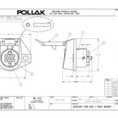 Wiring Diagram For 7 Pin Trailer Connector Heart Inside Pollak 12-812ep 7-way Socket | Waytek Wire