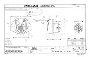 Pollak 12812EP 7Way Connector Socket | Waytek Wire