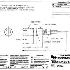 Cat 5a Wiring Diagram 1964 Ford Fairlane Cole Hersee 91823 Momentary Grounded Push Button Door Jamb
