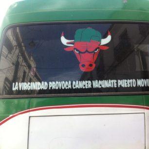 Drôle de décoration d'un bus bolivien...