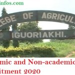 Edo State College of Agriculture Academic and Non-academic Staff Recruitment 2020