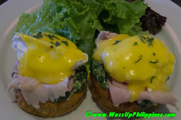 Eggs Florentine in a Boat with Homemade Ham
