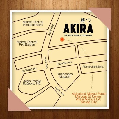 Akira Alphaland Makati Place Location Map