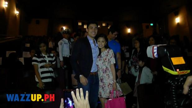 Kim Chiu leans towards Xian Lim at the Paddington Celebrity Night