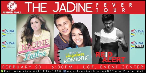 jadine fever tour Fisher Mall poster