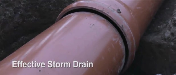 Effective Storm Drain with Neltex 500 mm PVC Pipes