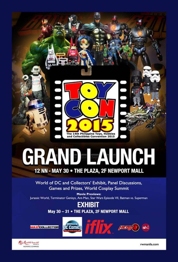Toycon 2015 Grand Launch Resorts World Manila May 30 31 poster