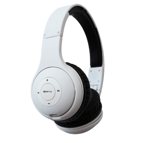 boompods wireless headpods headset-white
