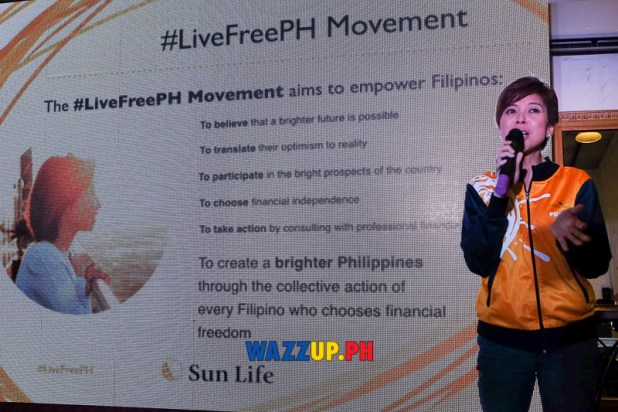 Ms. Mylene D. Lopa, Chief Marketing Officer of Sun Life of Canada Philippines, Inc. talks about the #LiveFreePH Movement