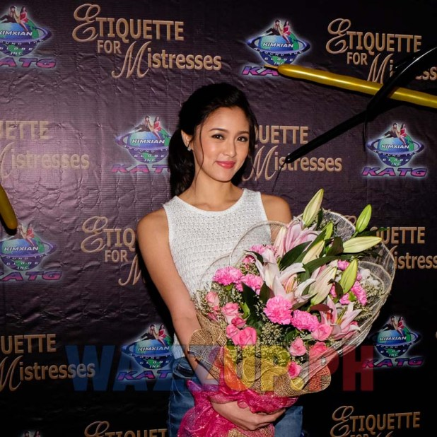 Kim Chiu Grateful to Xian Lim for Supporting Her Etiquette for Mistresses Premiere Night
